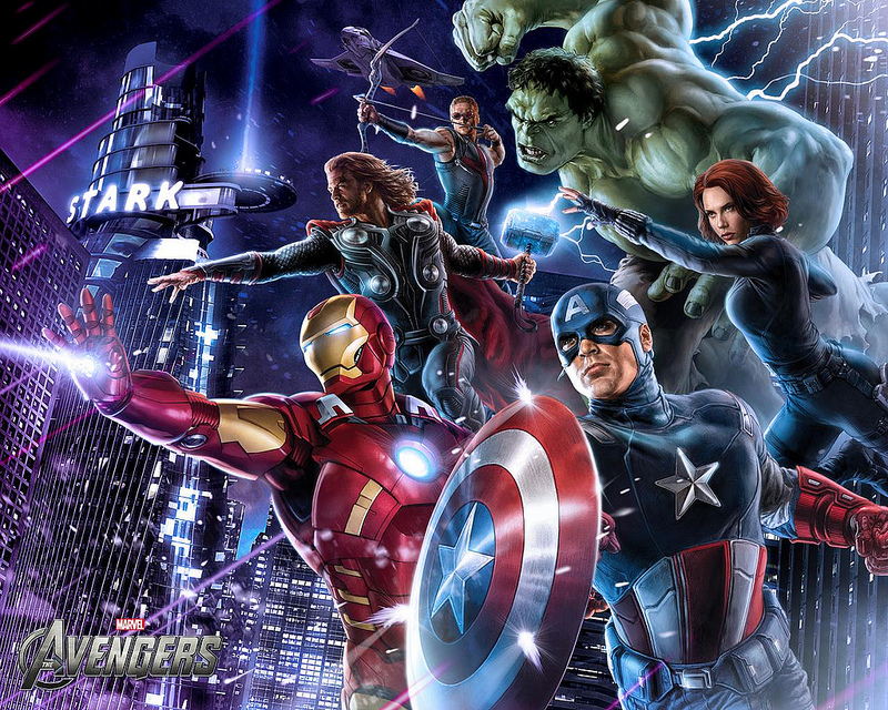 The Avengers movie art