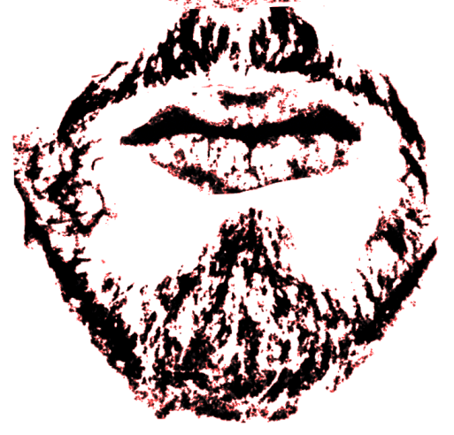 An abstract, thicker-than-true version of my beard.