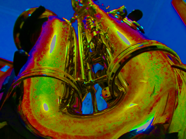 Brassy Blue Sax